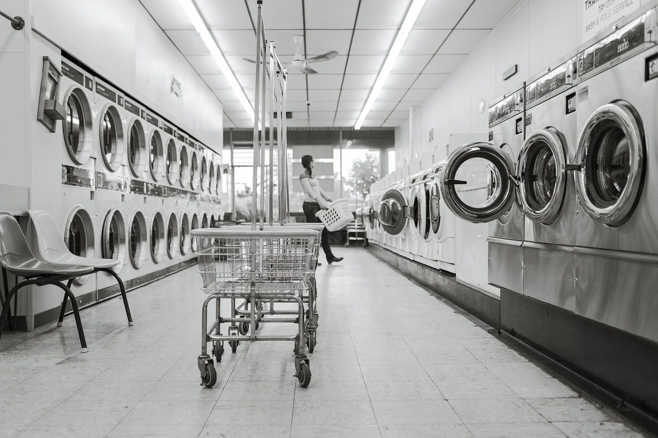Auch im Waschsalon haben Sie gute Karten Männer ansprechen zu können