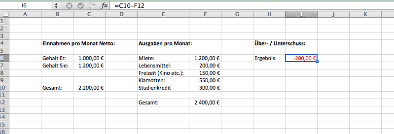 Einnahmen Überschussrechnung für Paare