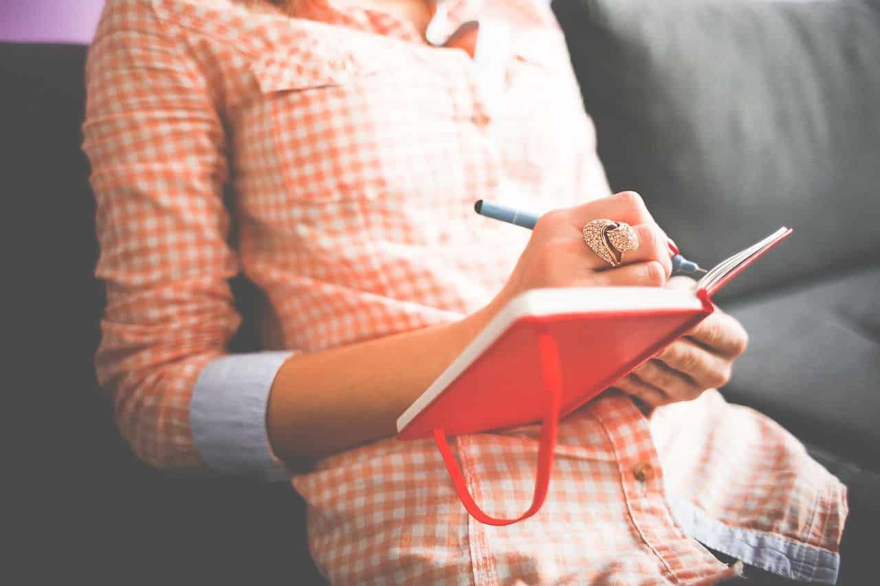 Schreiben Sie Ihre Ziele auf