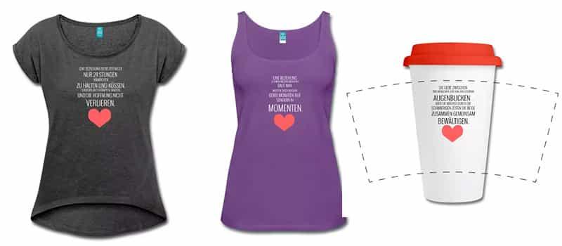 Zitate Beziehung T-shirts