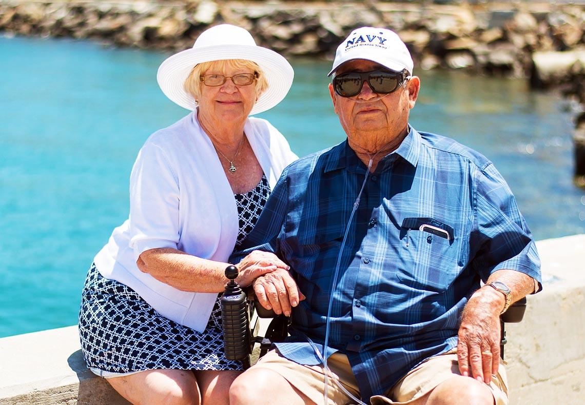 Älterer Mann und Frau - Vater und Mutter
