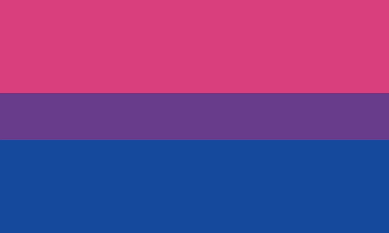 Bisexuelle Beziehung - Flagge
