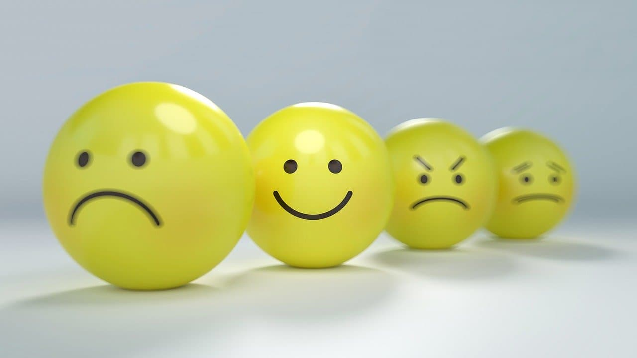 Smileys mit verschiedenen Gefuehlsausdruecken