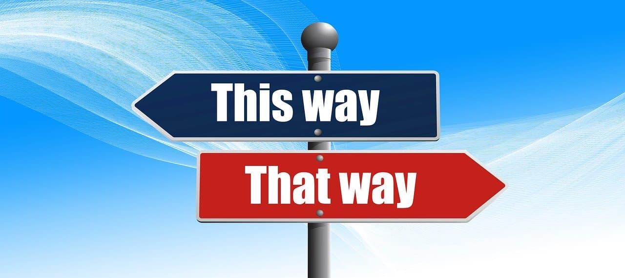 Für einen Weg entscheiden