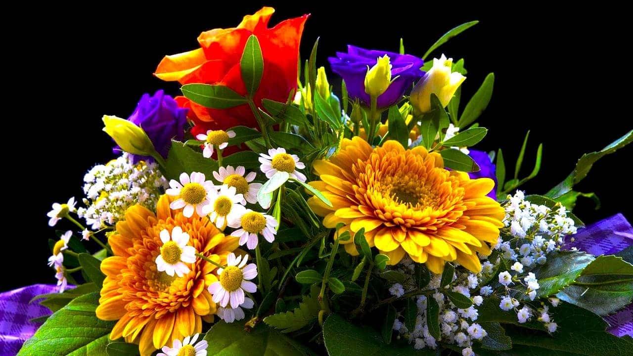 Homeoffice Beziehung Blumen schicken
